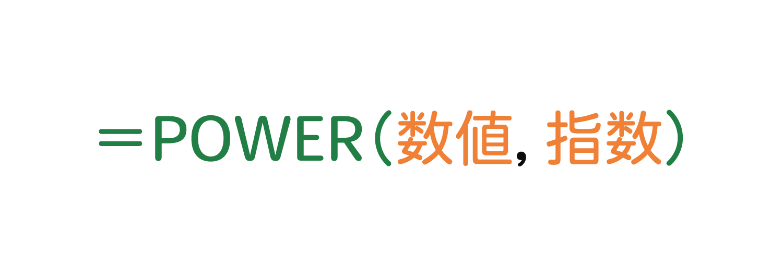 Excelでべき乗を求めるPOWER関数の使い方1