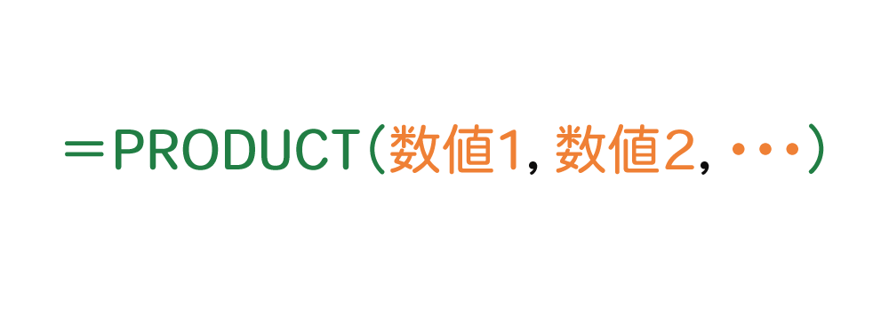 Excelで掛け算を効率的にするPRODUCT関数の使い方1