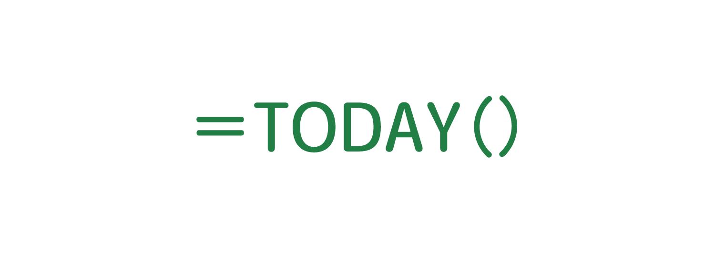 Excelで現在の日付を求めるTODAY関数の使い方1
