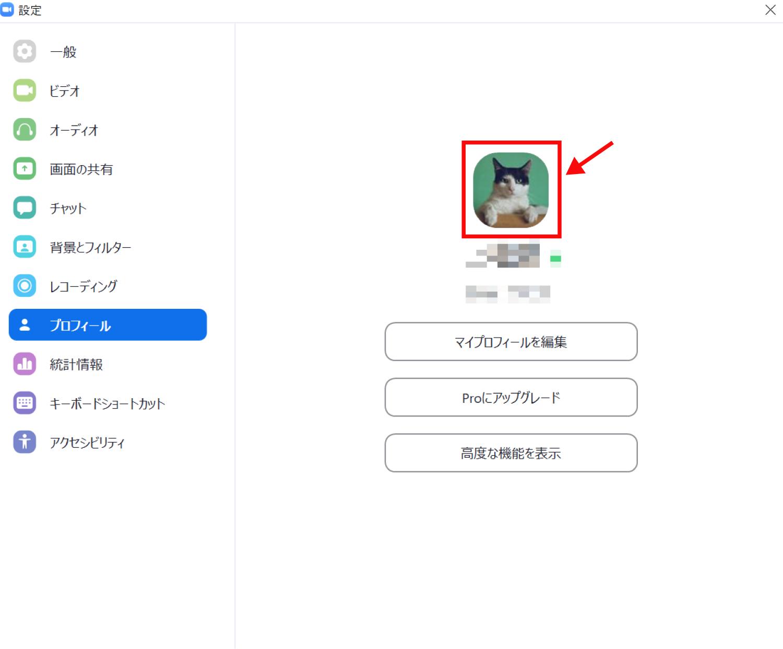 Zoomでプロフィール画像を変更する方法6