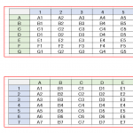 Excelで行と列を入れ替えて張り付ける2