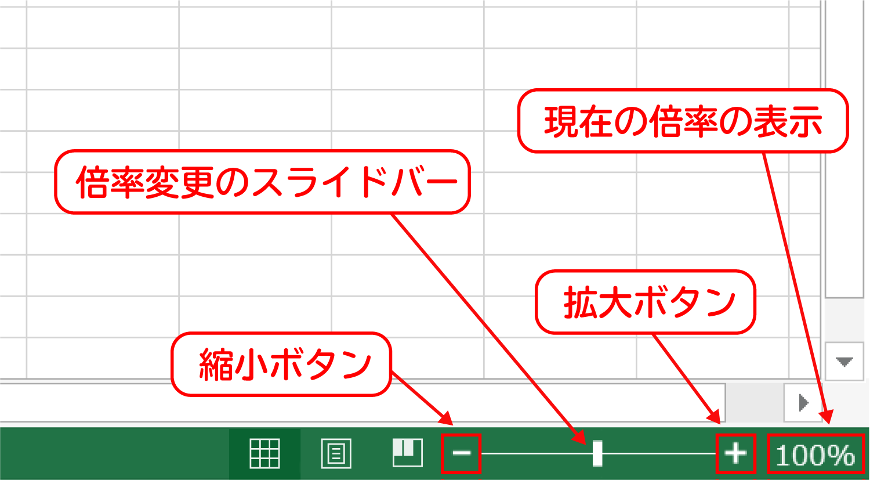 Excelの表示倍率を変更する1