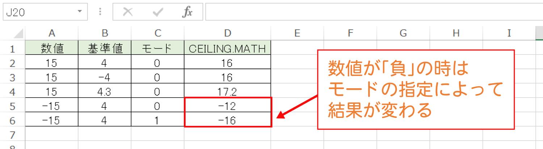 Excelで基準値の倍数に切り上げるCEILING.MATH関数の使い方6