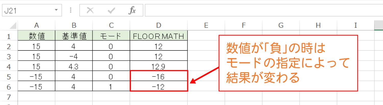Excelで基準値の倍数に切り捨てるFLOOR.MATH関数の使い方6