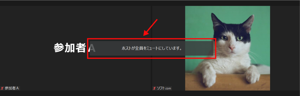参加者全員を一斉ミュート3